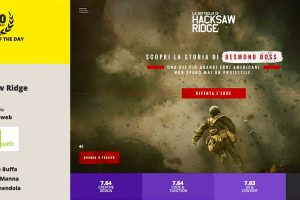 Gigasweb vince il CSS Design Awards con La battaglia di Hacksaw Ridge